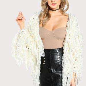 Faux Fur Shaggy Coat / Cardigan